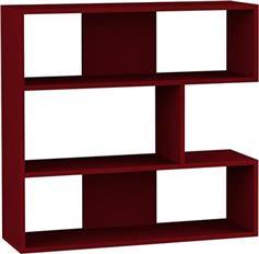 Pakoworld Βιβλιοθήκη Molly No1 σκούρο κόκκινο 94x30x94εκ