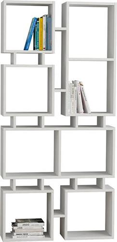 ΒιβλιοθήκεςPakoworldΒιβλιοθήκη Rail λευκό 79x24x166,5εκ