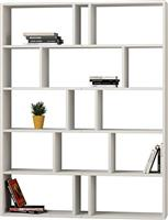 Pakoworld Βιβλιοθήκη Tapi 2 σετ λευκό 124x28x161εκ