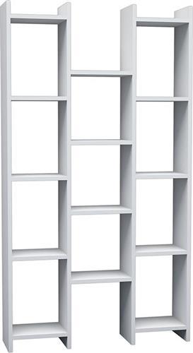 Pakoworld Βιβλιοθήκη Teo Rio λευκό 90x22x164εκ