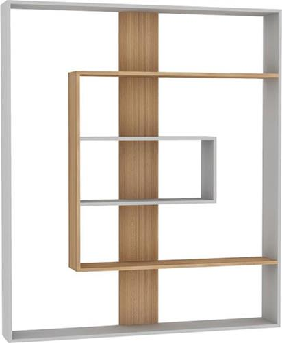 ΒιβλιοθήκεςPakoworldΒιβλιοθήκη Tesa λευκό-teak 150x22x174