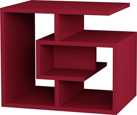 ΤραπεζάκιPakoworldLabirent Σκούρο Κόκκινο 54x40x45 Βοηθητικό