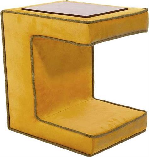 ΤραπεζάκιPakoworldΒοηθητικό τραπεζάκι Bea υφασμάτινο mustard 55x32x40εκ