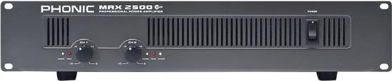 Τελικός ΕνισχυτήςPhonicMAX-2500 PLUS 2x750W