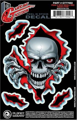 Guitar TattooPlanet WavesPeek A Boo Skull GT77002