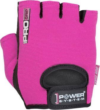 Γάντια Άρσης ΒαρώνPower SystemPro Grip Γυμναστικής Γυναικεία Κοφτά PS-2250 Large Ροζ