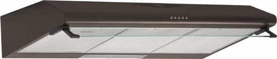 Ελεύθερος ΑπορροφητήραςPyramisAπλός 90cm 2 Μοτέρ με Μεταλλικά Φίλτρα Καφέ
