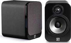 Q-Acoustics 3020 Black Leather Ζεύγος