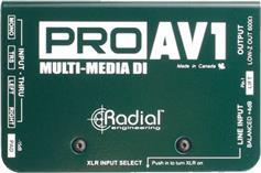Radial PRO-AV1 Passive DI Box