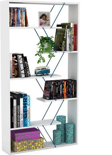 ΒιβλιοθήκεςRafeviTARS λευκό & μπλε 84x24x157εκ