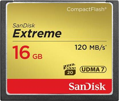 Compact Flash Sandisk Extreme 16 GB
