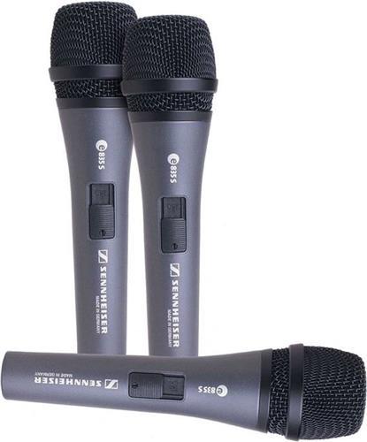 Ενσύρματο ΜικρόφωνοSennheiserE-835-S-3-Pack Σετ Τριών Μικροφώνων