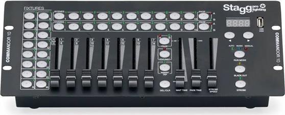 DMX InterfacesStaggCommandor 10-2 Dmx Controller 10CH