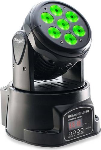 LED Κινητή ΚεφαλήStaggHeadbanger-10 7 x 10W (RGBW)