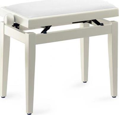 Κάθισμα ΠιάνουStaggPB05 WHP VWH Λευκό Γυαλιστερό Ρυθμιζόμενο