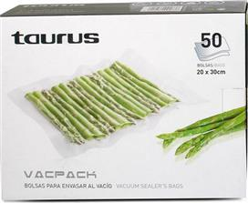 Taurus Ανταλλακτικές Σακούλες για Vacpack 20x30cm 999.183
