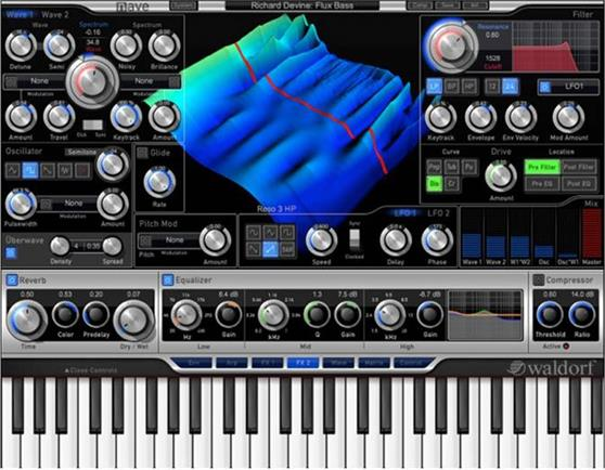 Plugins & Effects Waldorf Nave Virtual Wavetable Synthesizer Plug In