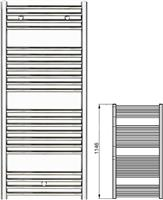 Zehnder Klaro ZSL-120-050 Λευκό
