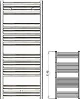 Zehnder Klaro ZSL-120-060 Λευκό