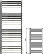 Zehnder Klaro ZSLC-120-050 Χρώμιο