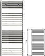 Zehnder Klaro ZSLC-120-060 Χρώμιο