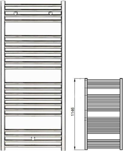 Σώμα ΛουτρούZehnderKlaro ZSLC-120-060 Χρώμιο