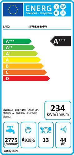 AEG FFB53630ZW Λευκό