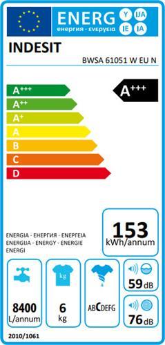 Indesit BWSA 61051 W EU N