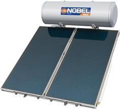 Nobel Aelios 300lt/4.0m² Glass ALS Επιλεκτικός Διπλής Ενέργειας Ταράτσας