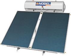 Nobel Classic 300lt/4.0m2 Glass Επιλεκτικός Τριπλής Ενέργειας Ταράτσας