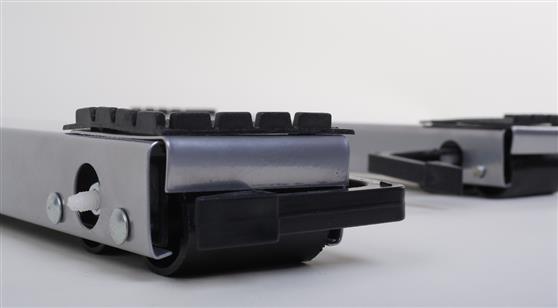 Roller Βάση Ζεύγος Τροχήλατη Τύπου Inox