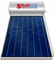 Solarnet SOL 160lt/2.5m² Glass Επιλεκτικός Τιτανίου Διπλής Ενέργειας