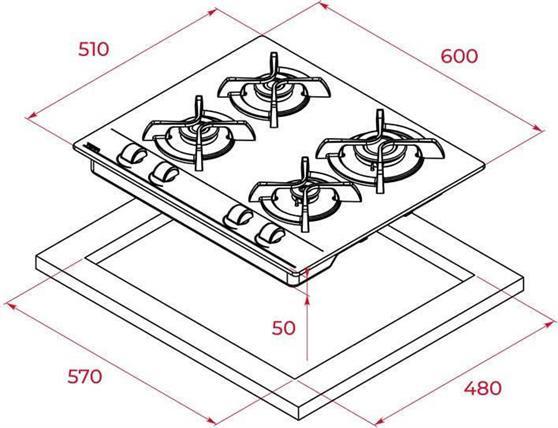 Teka GBC 64000 Tempered Glass